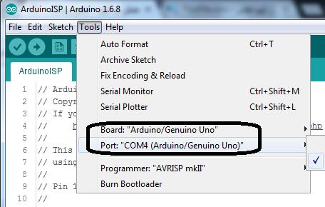 آپلود نشدن پروژه در آردوینو