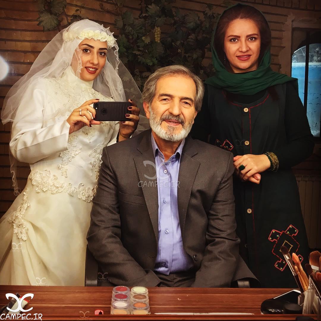 الهام طهموری و محمد عمرانی در پشت صحنه سریال پرستاران
