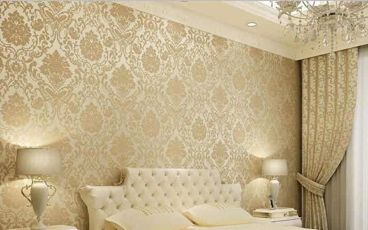 کاغذ دیواری کلاسیک و نورپردازی image