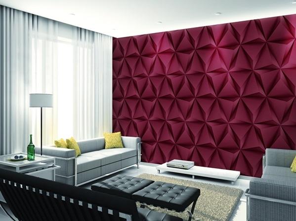 کاغذ دیواری سه بعدی و نورپردازی image