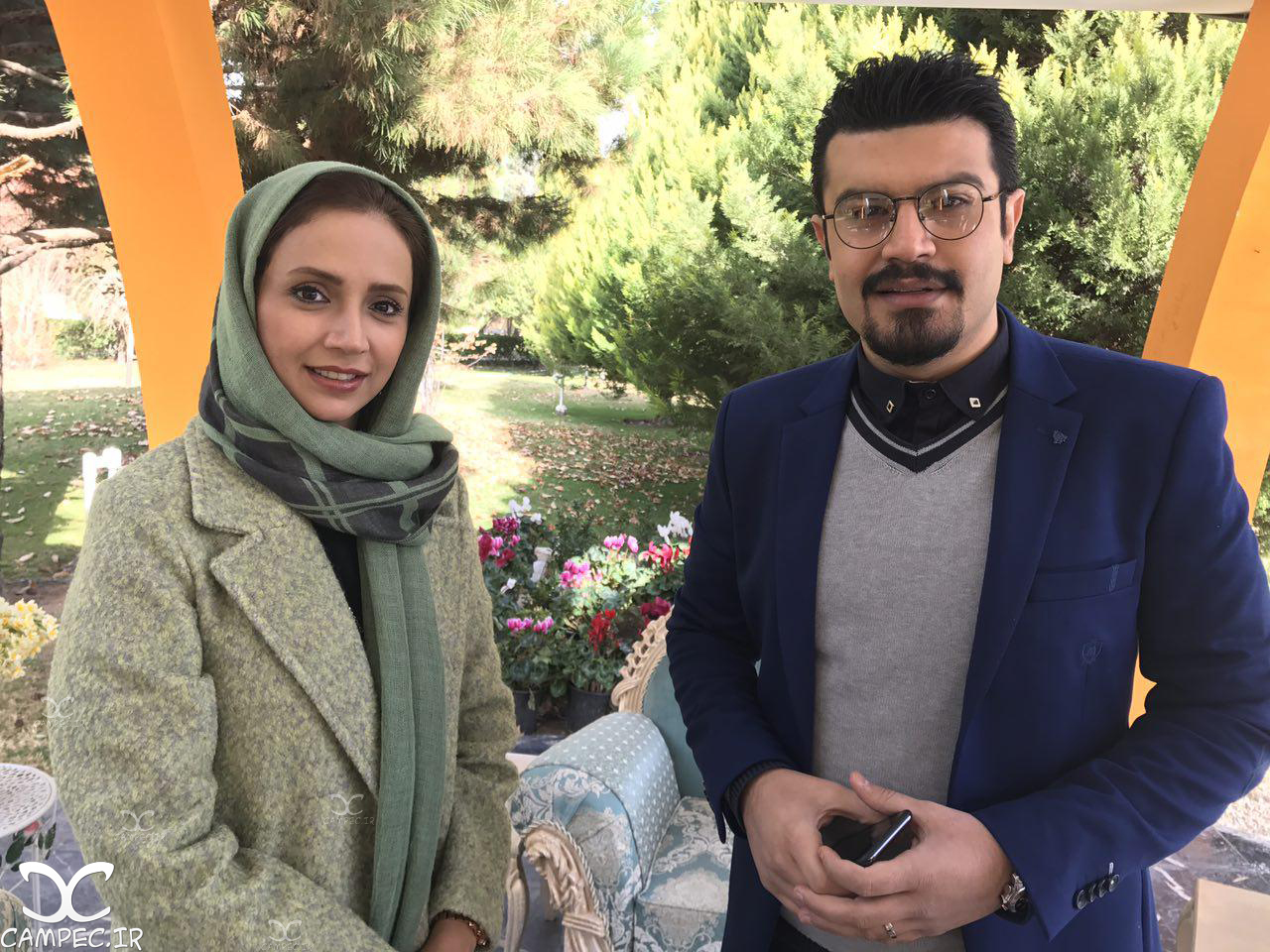 شبنم قلی خانی با پیمان طالبی در برنامه زنده رود