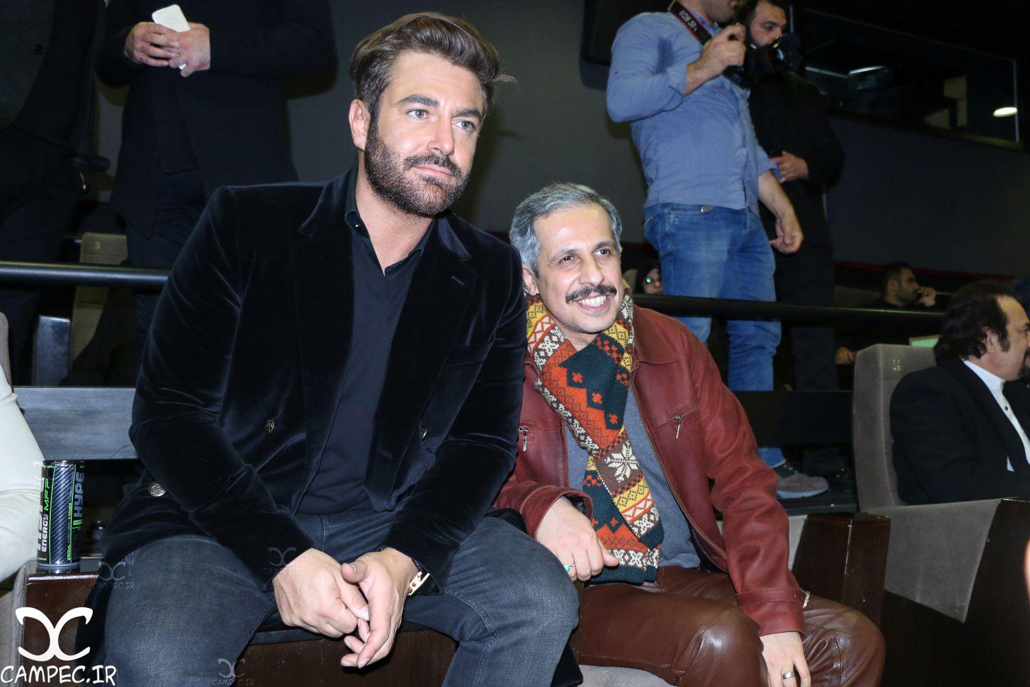 جواد رضویان و رضا گلزار در اکران خصوصی فیلم سلام بمبئی