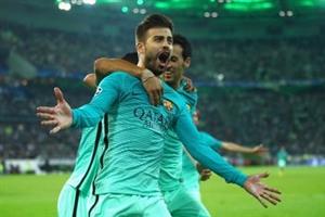 نتیجه بازی دیشب بارسلونا و مونشن گلادباخ 16 آذر 95 فیلم خلاصه و گلها