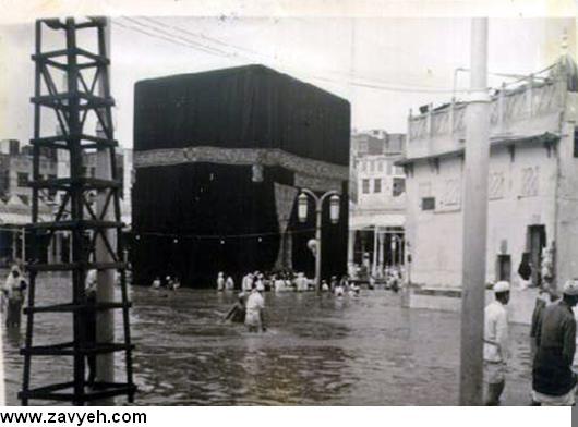 عكس خانه خدا درباران,;كعبه در باران
