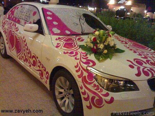 طرح زيبا از ماشین عروس!