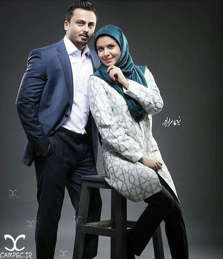 عکس نجمه جودکی با همسرش مهدي پارسازاده