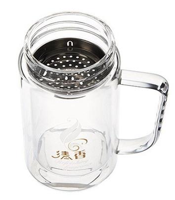 لیوان دمنوش دو جداره Double layered herbal drink Mug