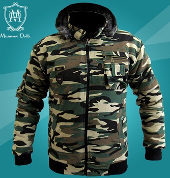 کاپشن ماسیما دیوتی طرح ارتشی Massimo Dutti Camouflage Coats