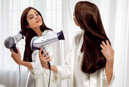 روش خشک کردن موها