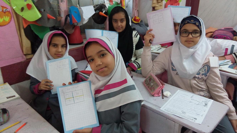 ضرب فرایندی کلاس چهارم آمادگی و دبستان غیرانتفاعی دخترانه رضوان