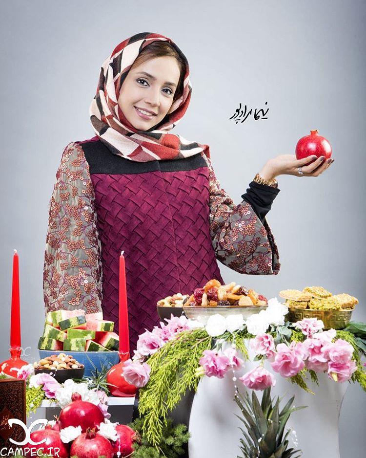 عکس شبنم قلی خانی به مناسبت شب یلدا