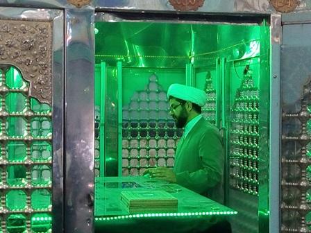 حضور امام جمعه شهر  قهدریجان حجت الاسلام والمسلمین  حاج آقا هاشمی درامزاده سید محمد(ع) قهدریجان جهت