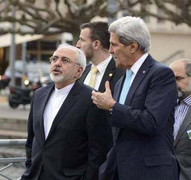 جان کری و محمد جواد ظریف وزیران امورخارجه ایران و آمریکا