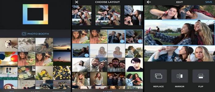 ساخت تصاویر کولاژ اینستاگرام با برنامه رسمی لایوت Layout