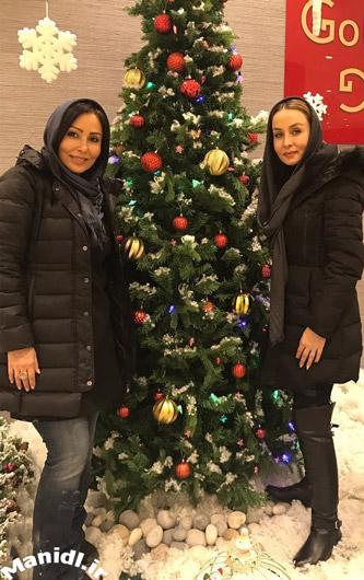 حدیث فولادوند و پرستو صالحی در کریسمس 2017