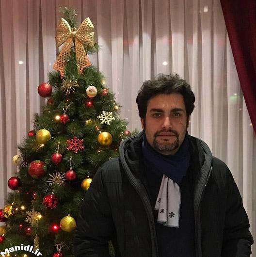 عکس جدید امیرمحمد زند در شب کریسمس
