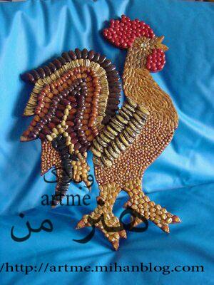 خروس با کاموا artme - کاردستی خروس