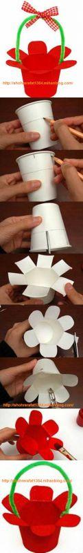 اموزش کاردستی با لیوان کاغذی بازیافت لیوان کاغذی