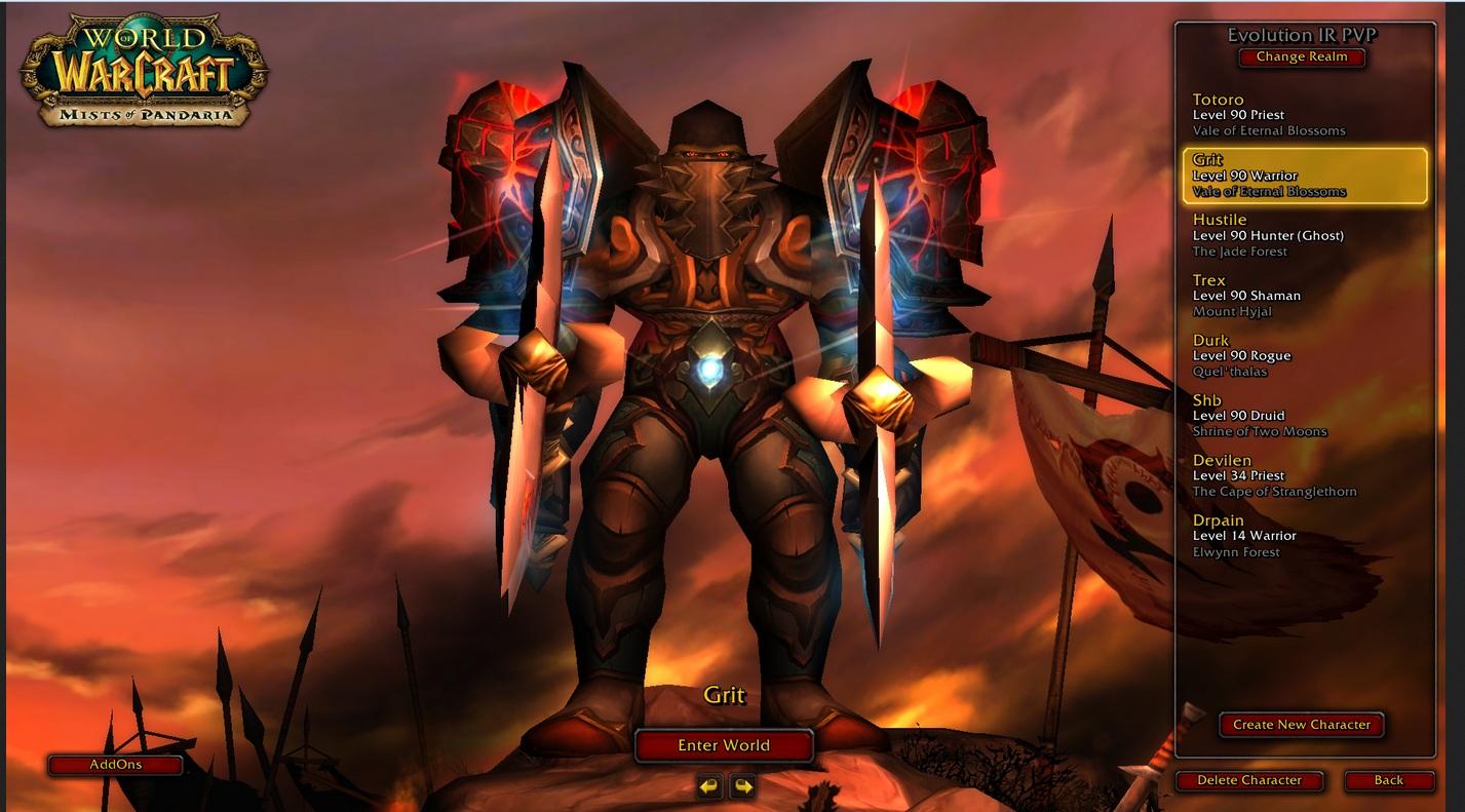 فروش هیرو Warrior - grit - سرو رWowZone