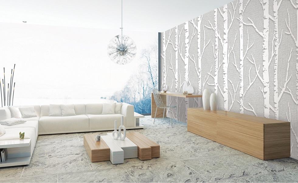 اجرا و نصب کاغذ دیواری قابل شستشو کره ای لیوینگ image