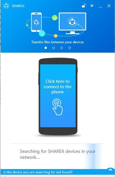 shareit اتصال رایانه و گوشی به هم بدون کابل با shareit (نسخه رایانه+ نسخه اندروید)
