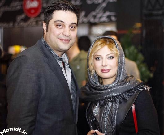 نیوشا ضیغمی با همسرش در اکران فیلم ما همه گناهکاریم