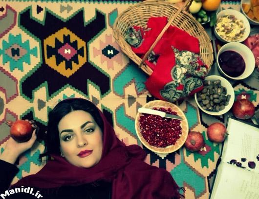 عکس لیلا ایرانی در شب یلدا