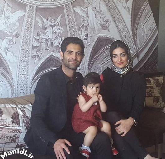 عکس لیلا ایرانی در کنار دختر و برادرش
