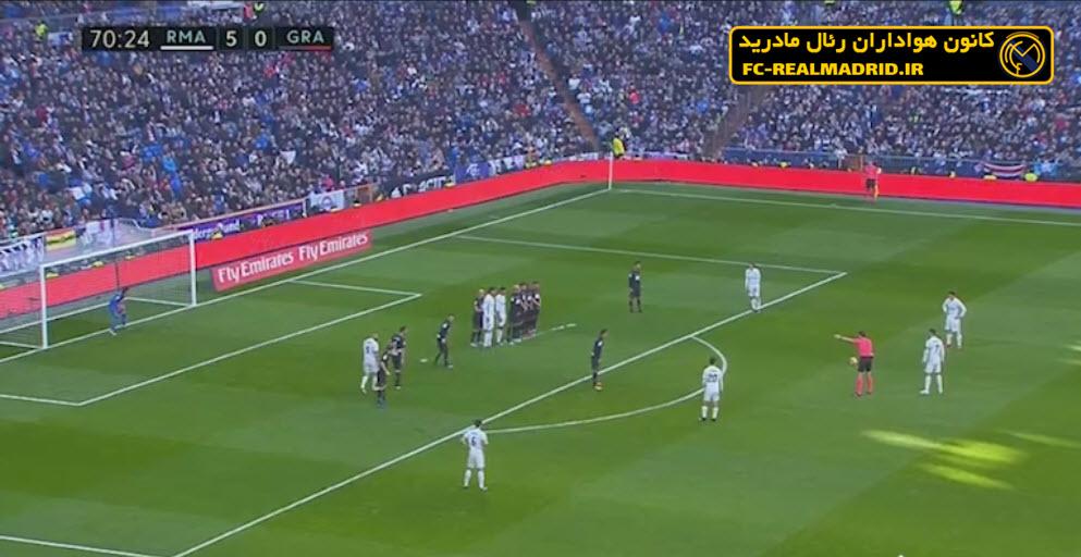 خلاصه بازی رئالمادرید 5-0 گرانادا