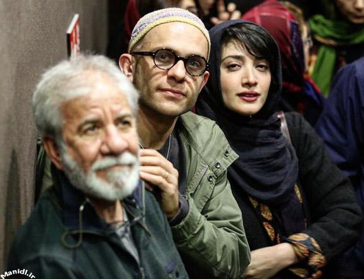 عکس مینا ساداتی و همسرش بابک حمیدیان در اکران فیلم لاک قرمز
