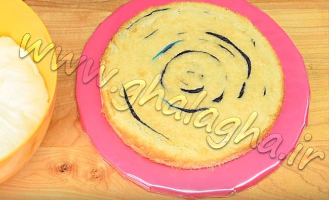 کیک برای تم رنگین کمانی