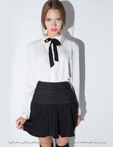 مدل بلوز یقه گرد با پاپیون دخترانه مجلسی