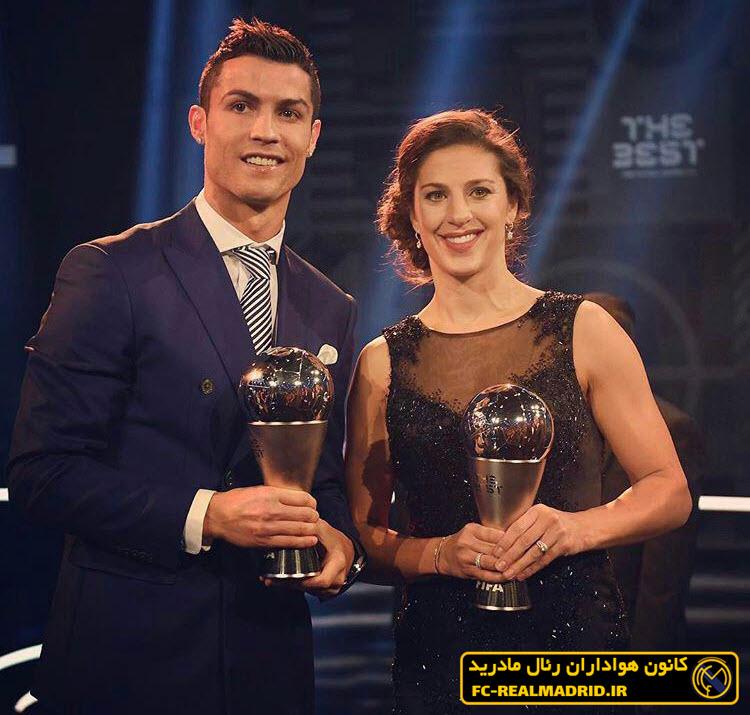 <h3>عکس/ بهترین بازیکن زن و مرد فوتبال جهان در یک قاب</h3>