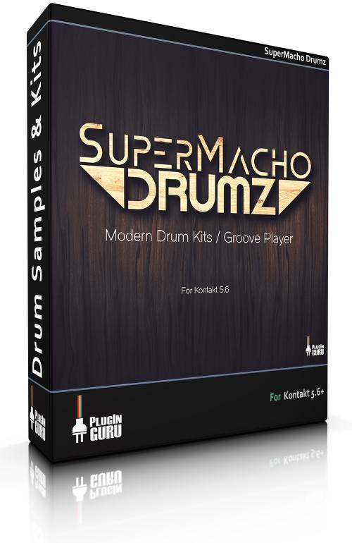 دانلود رایگان بانک صدای درام PluginGuru – SuperMacho Drums for Kontakt 5.6