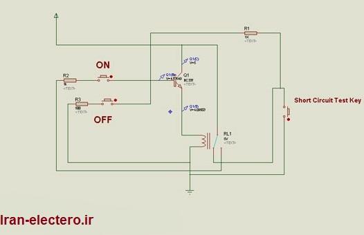 مدار ساده تشخیص اتصال کوتاه