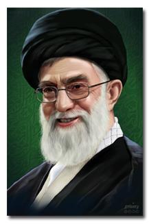 دانلود پوستر نقاشی دیجیتالی چهره ی امام خامنه ای + لینک مستقیم