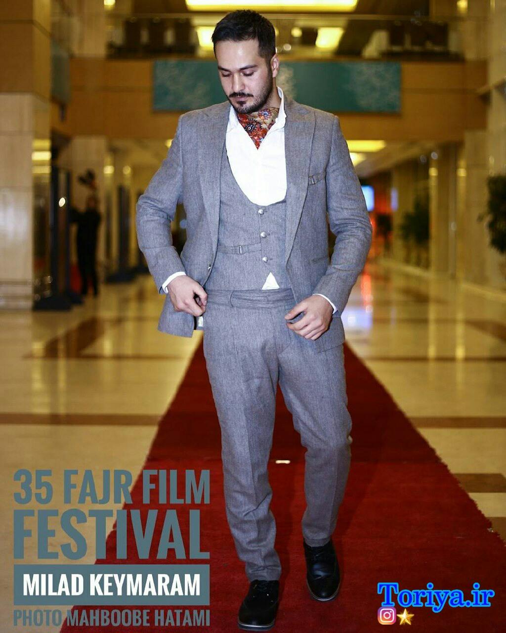 عکسهای میلاد کی مرام در افتتاحیه جشنواره فیلم فجر 35