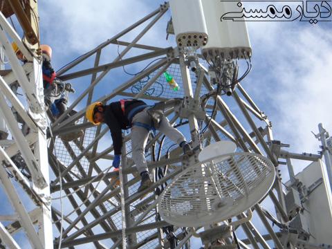 آغاز عملیات نصب دکل اینترنت 4G همراه اول در ممسنی و رستم