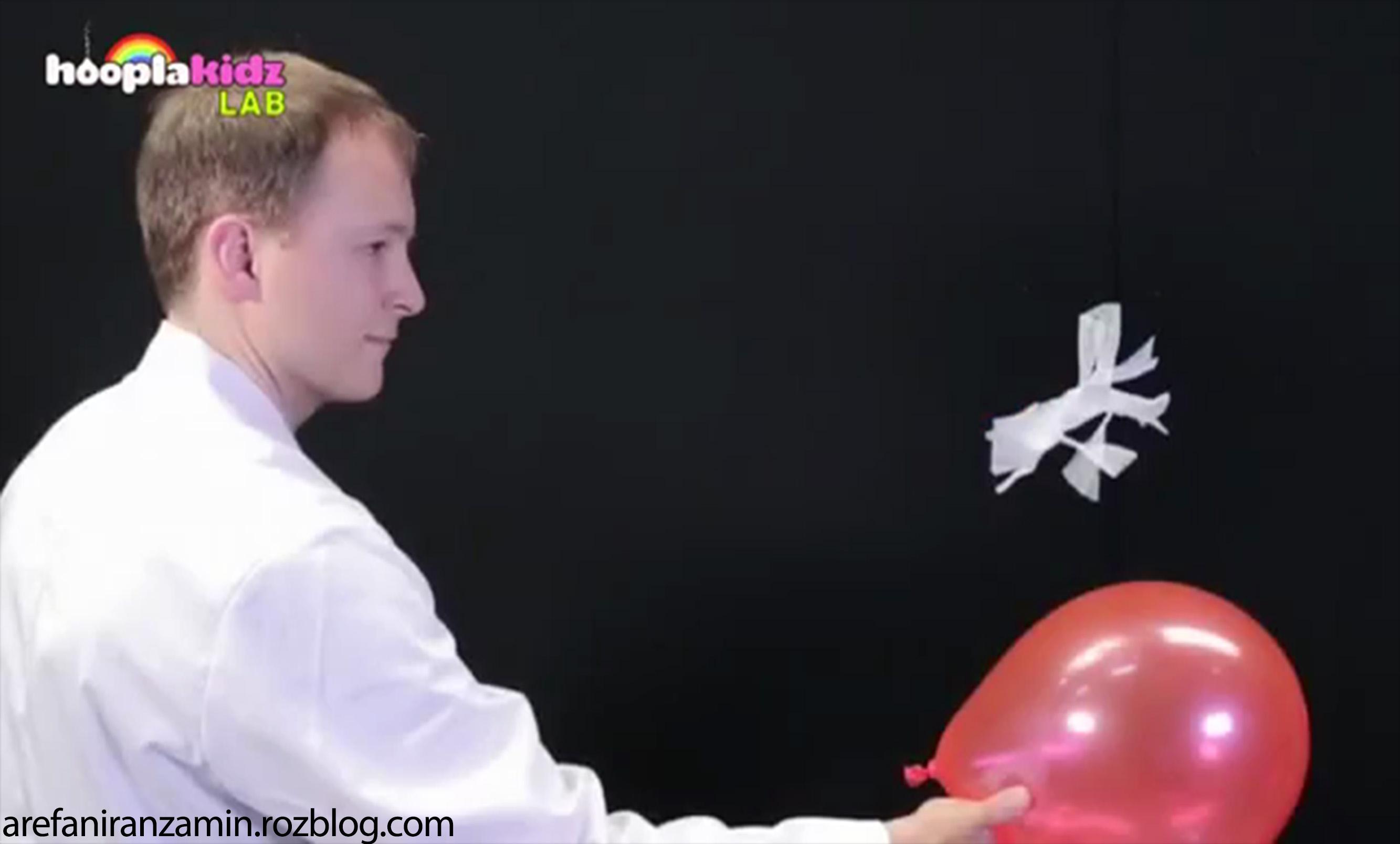 کلیپ آزمایشی جالب با الکتریسیته ساکن