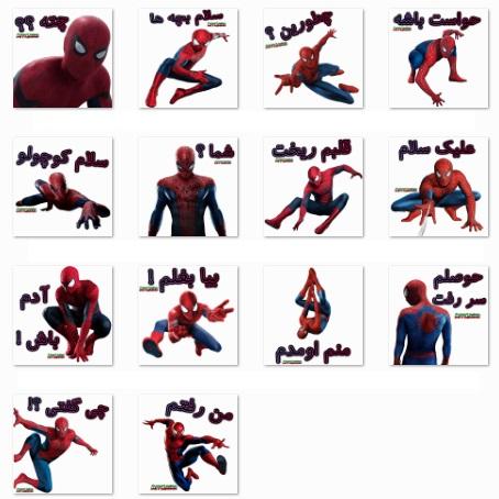 استیکر مرد عنکبوتی