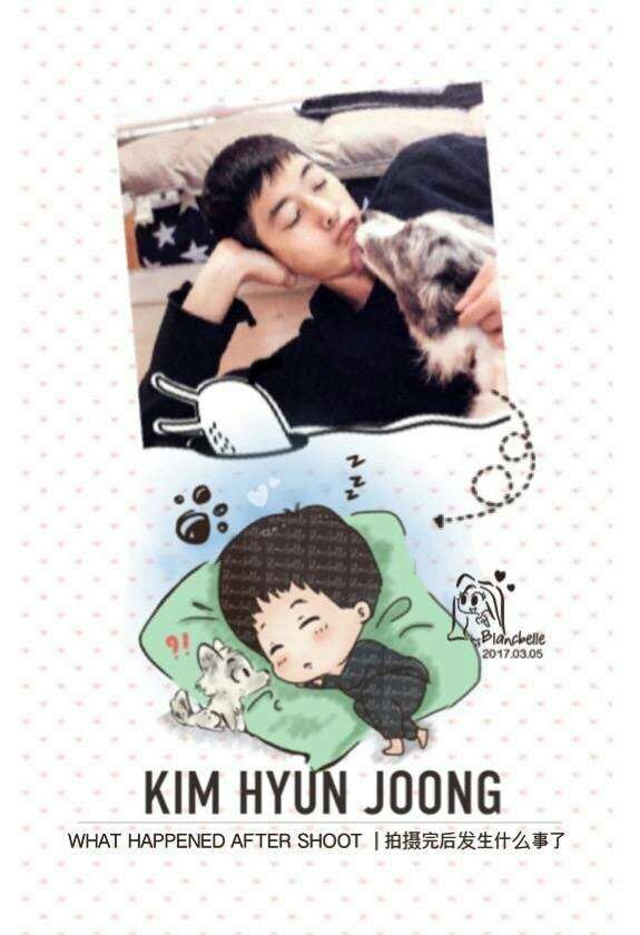 [blancbelle fanart] Kim Hyun Joong - What Happened after shoot [2017.03.05]