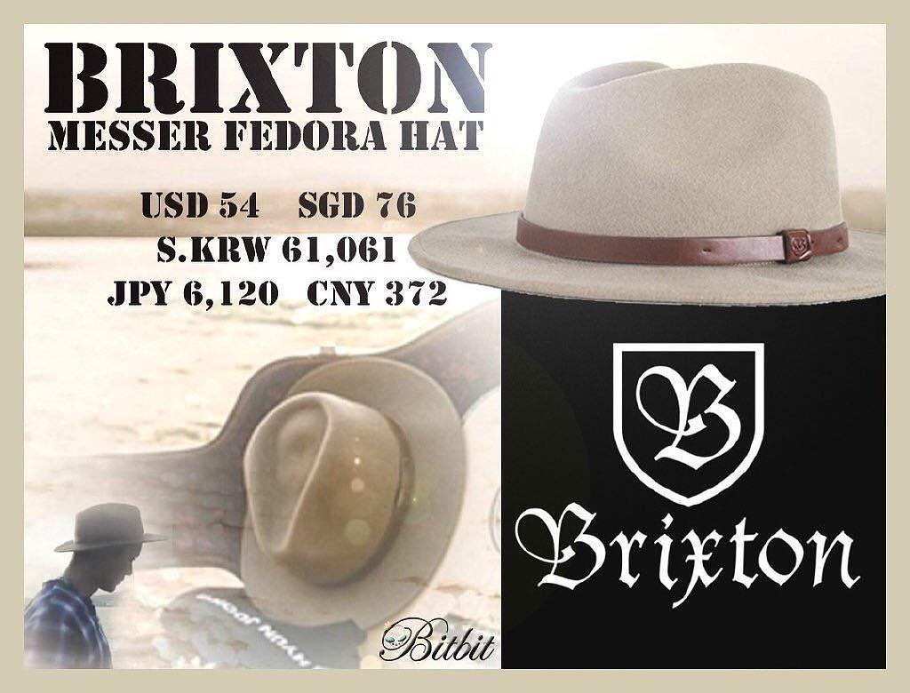 Sponsor - Brixton Messer Fedora Hat
