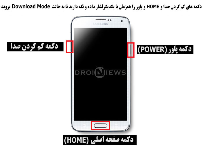 روش وارد شدن به حالت Download Mode گوشی و تبلت سامسونگ