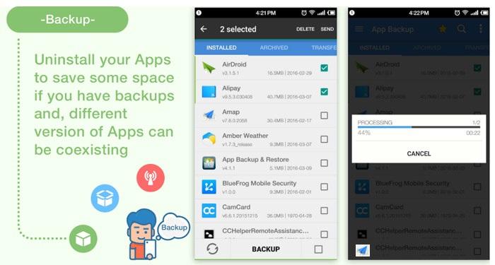نرم افزار بک آپ از گوشی و تبلت اندروید Android App Backup & Restore