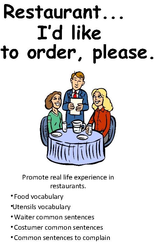 کلمات انگلیسیی راجب رستوران