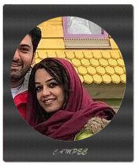 عکس مونا برزویی و همسرش نوروز 96