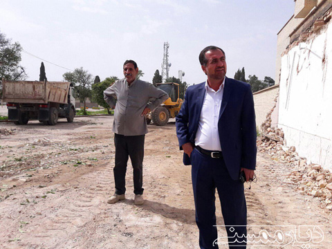 آغاز عملیات بازگشایی معبر جدید در شهر نورآباد