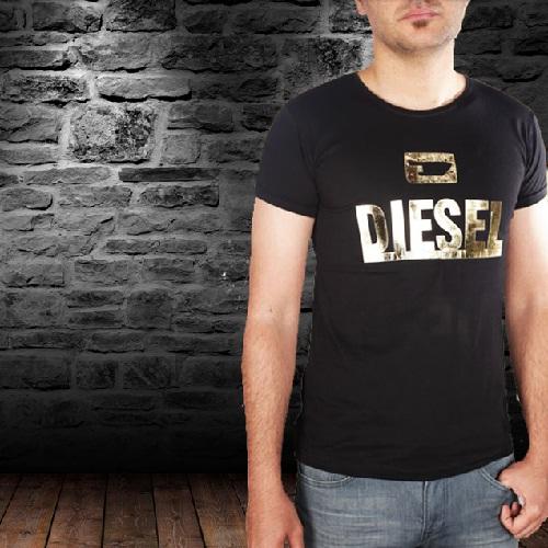 تیشرت مشکی مردانه DIESEL GOLD