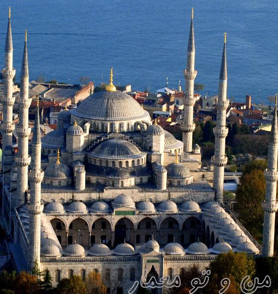 معماری مسجد سلطان احمد ترکیه