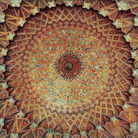سقف چهارسوق بازار قیصریه اصفهان